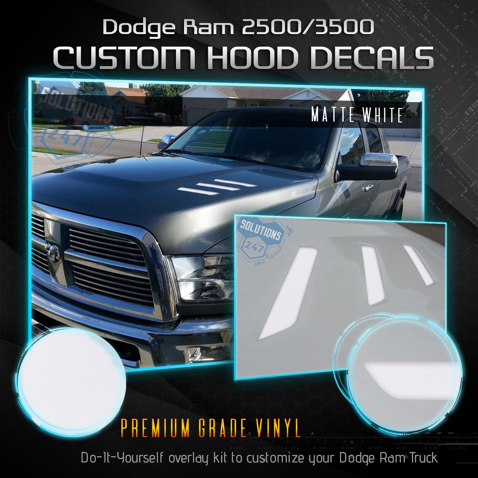 2010 2019 Dodge Ram 2500 3500 Hd Hood Vent Decals 6 7l Turbo Diesel Package 2