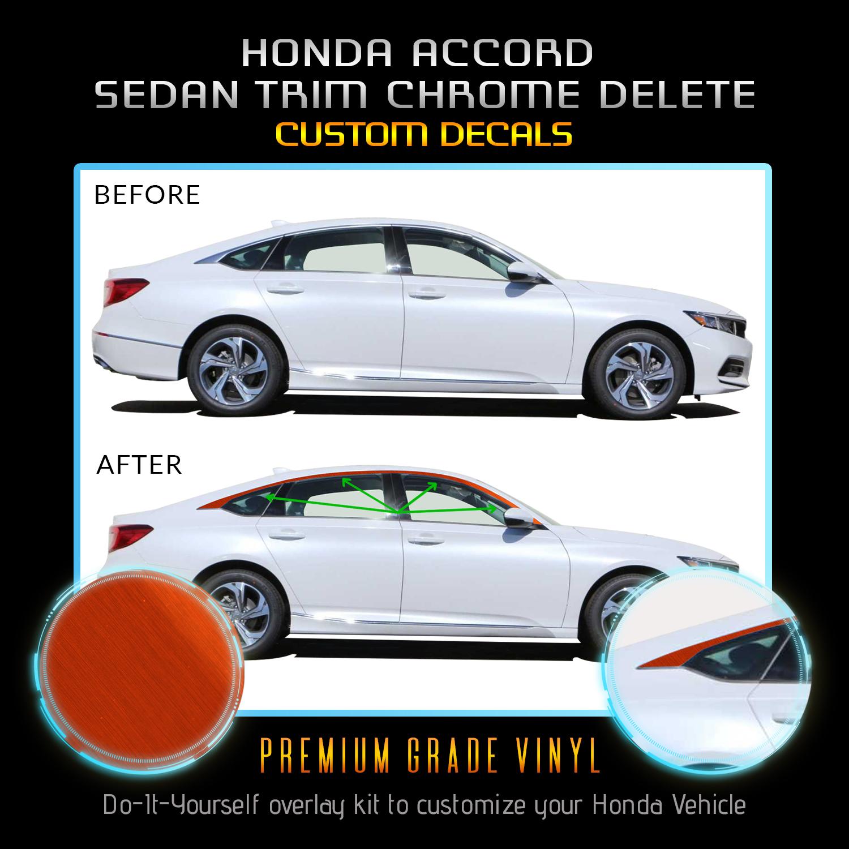 2018//2019 Honda Accord Sedan Chrome Trim blackout overlay