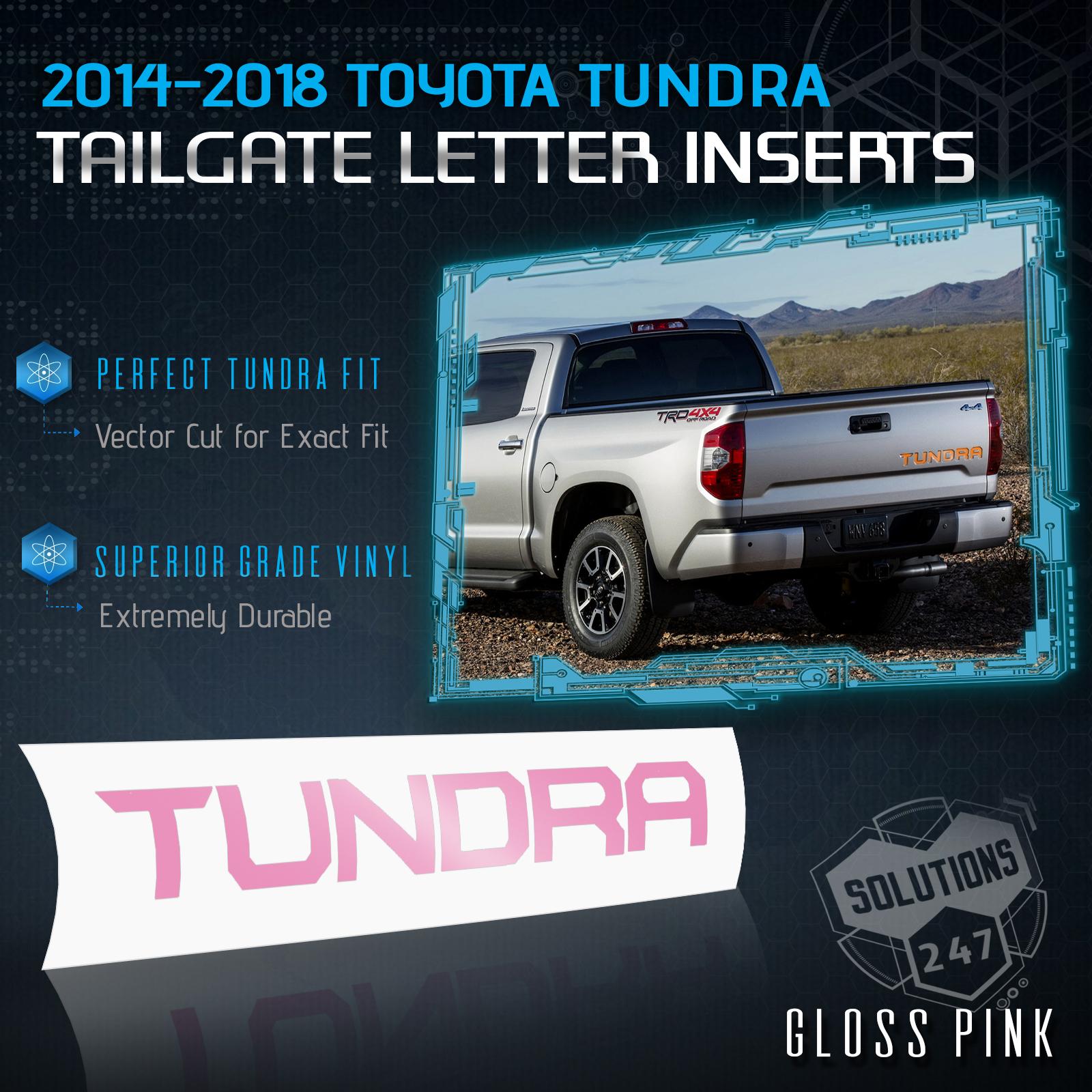 2014-18 Toyota Tundra Tailgate Rear Letter Insert Decal Sticker Gloss Finish