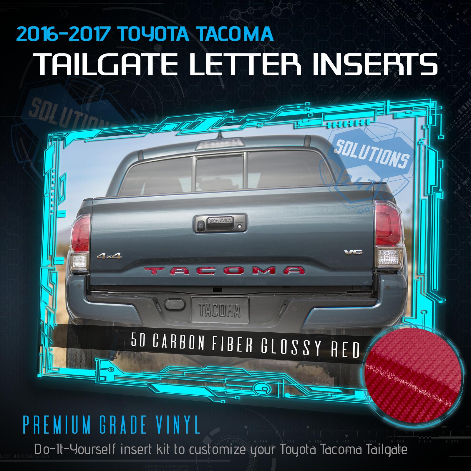 Chrome Letter Tailgate Filler Insert For 16-19 TACOMA